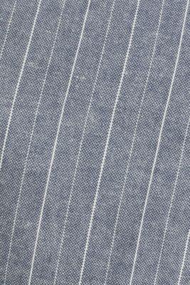 With linen: striped Bermudas, BLUE, detail