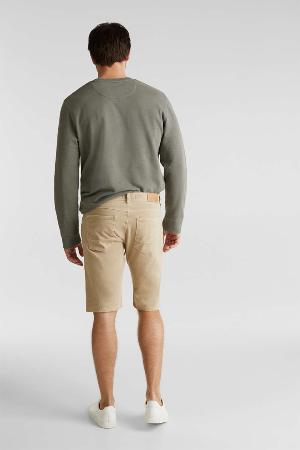 EarthColors®: Stretch Bermuda shorts, BEIGE, detail image number 2