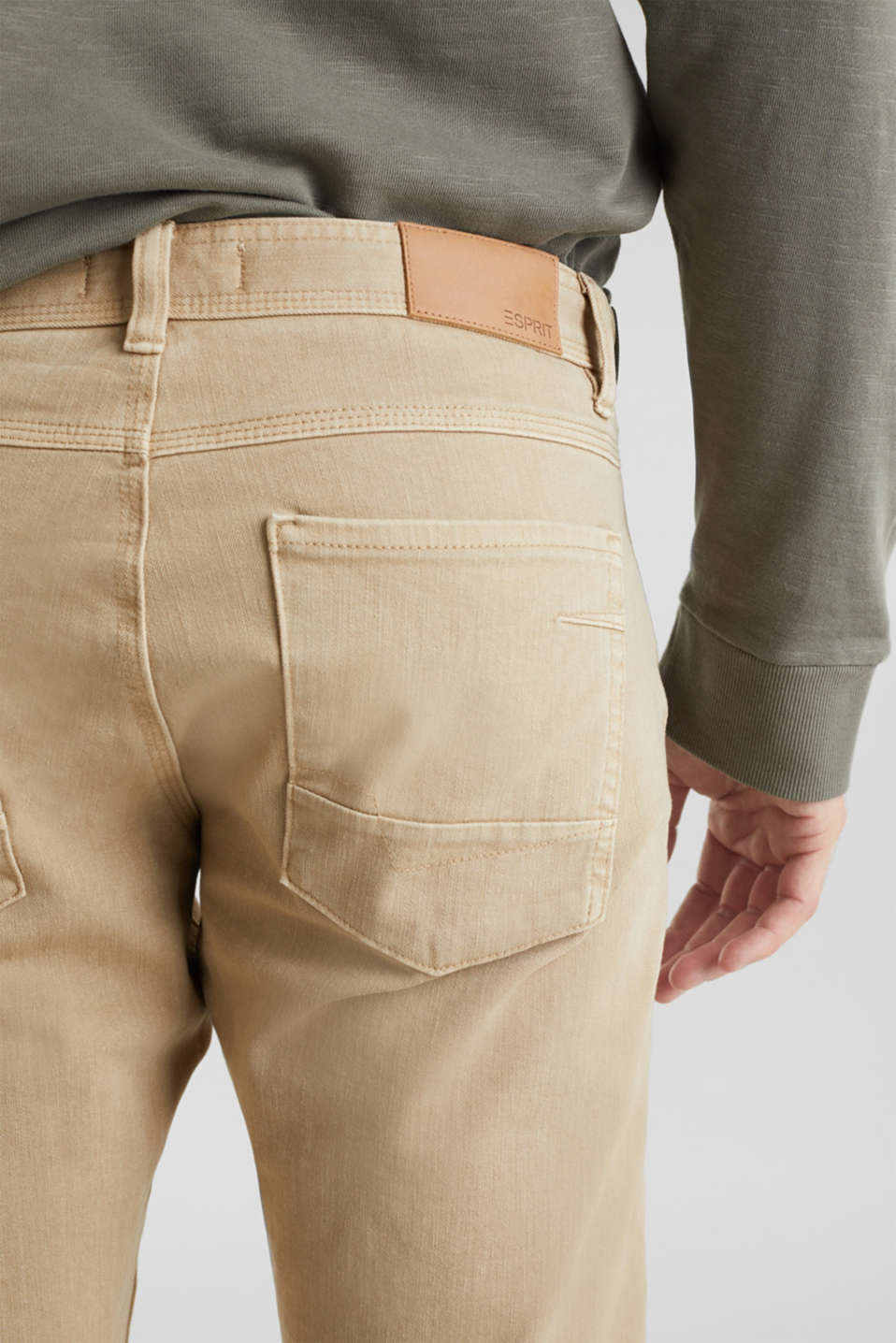 EarthColors®: Stretch Bermuda shorts, BEIGE, detail image number 4