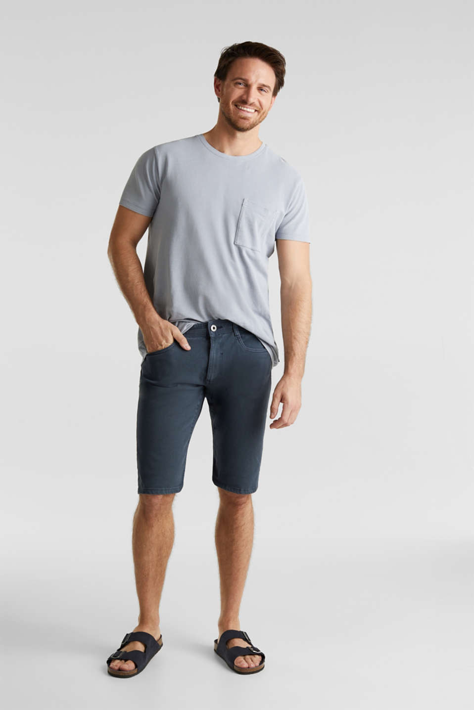 Esprit - EarthColors®: bermuda met stretch