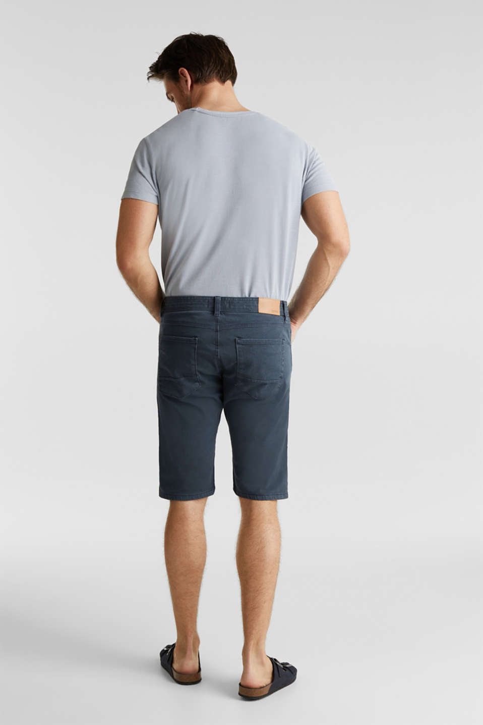 EarthColors®: Stretch Bermuda shorts, DARK BLUE, detail image number 2