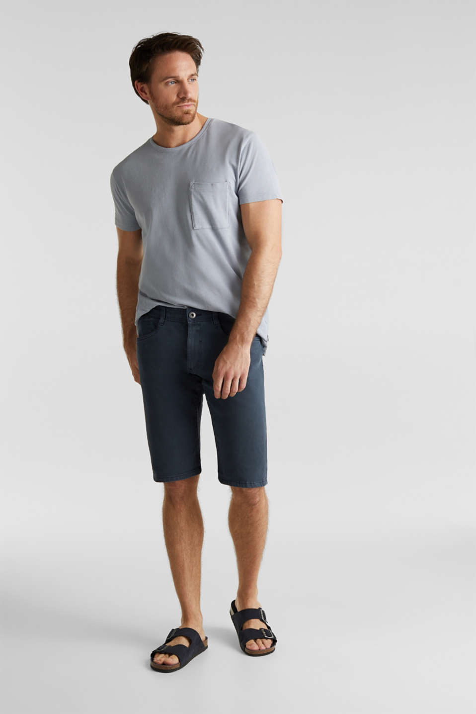 EarthColors®: Stretch Bermuda shorts, DARK BLUE, detail image number 1