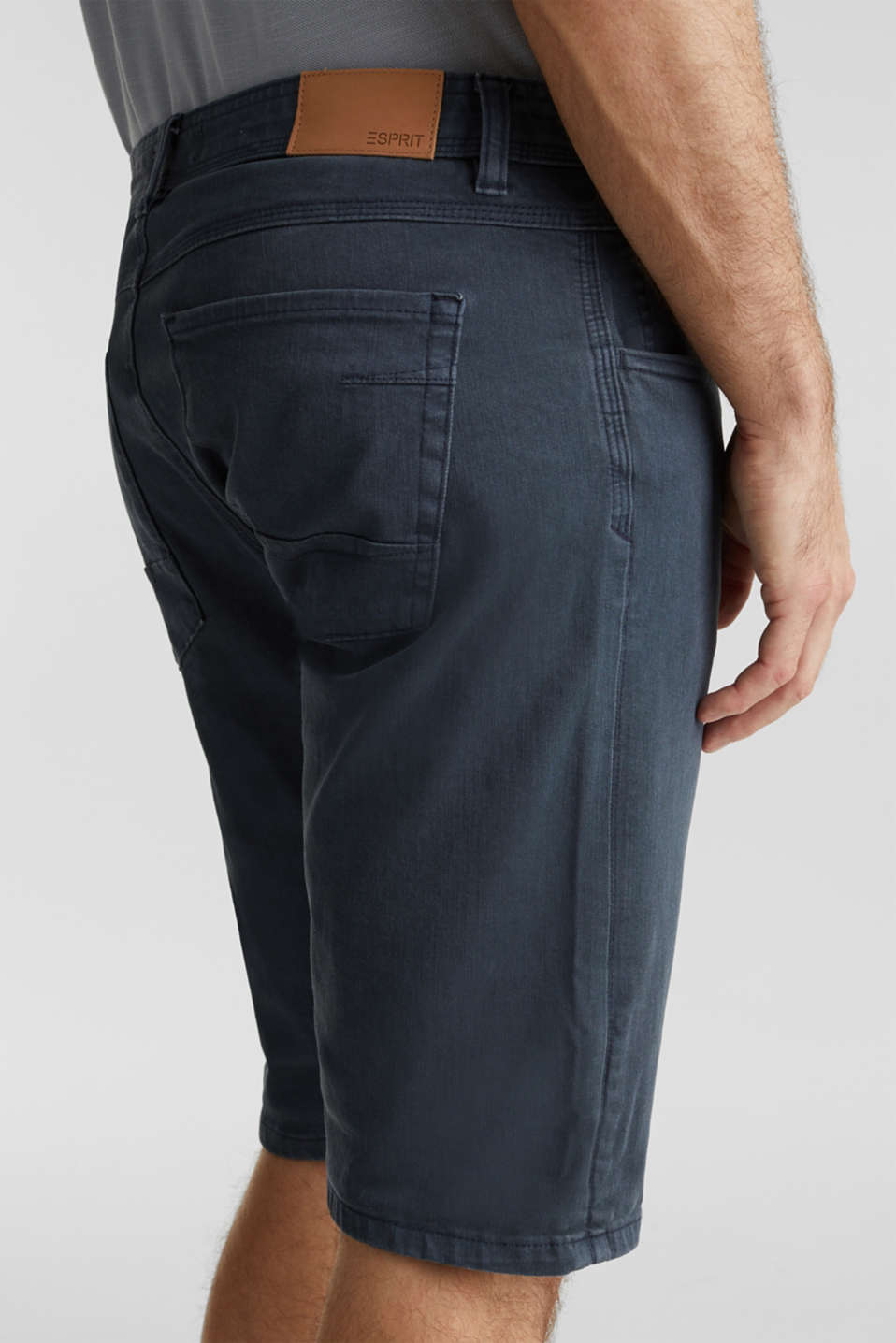 EarthColors®: Stretch Bermuda shorts, DARK BLUE, detail image number 4