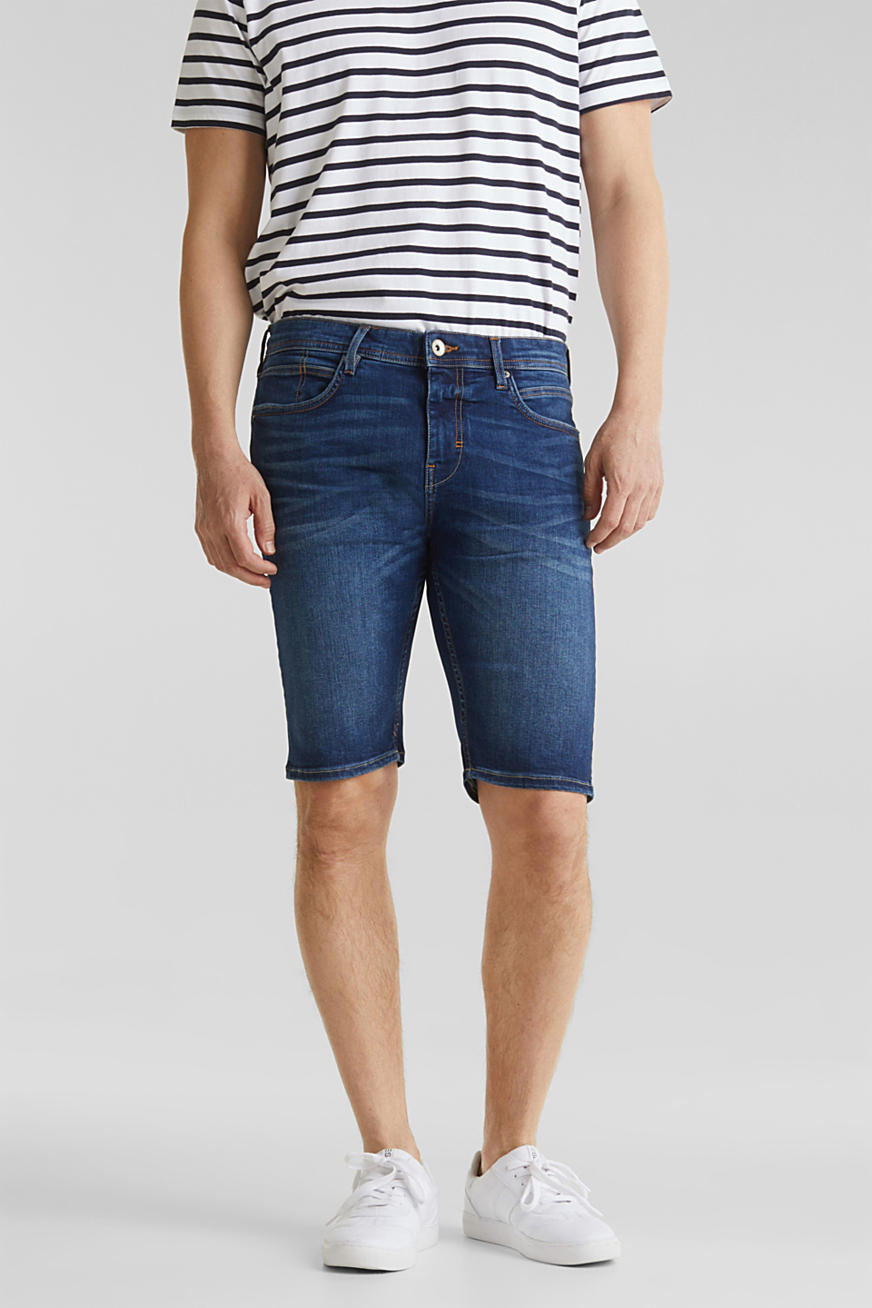 Jeans-Shorts mit Used-Waschung