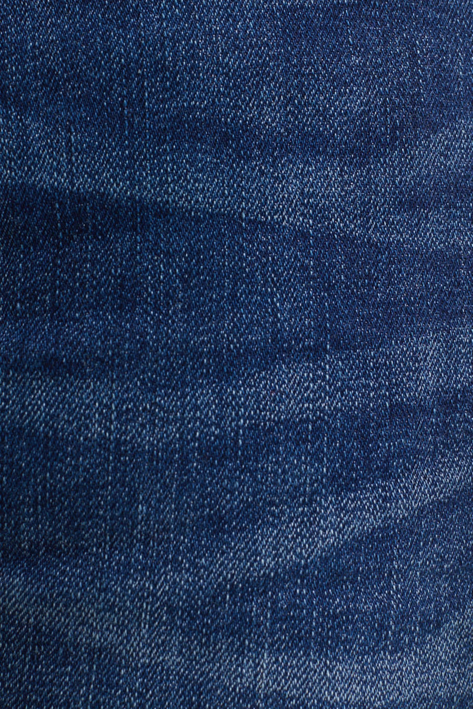 Denim shorts with a vintage garment wash, BLUE DARK WASH, detail image number 4