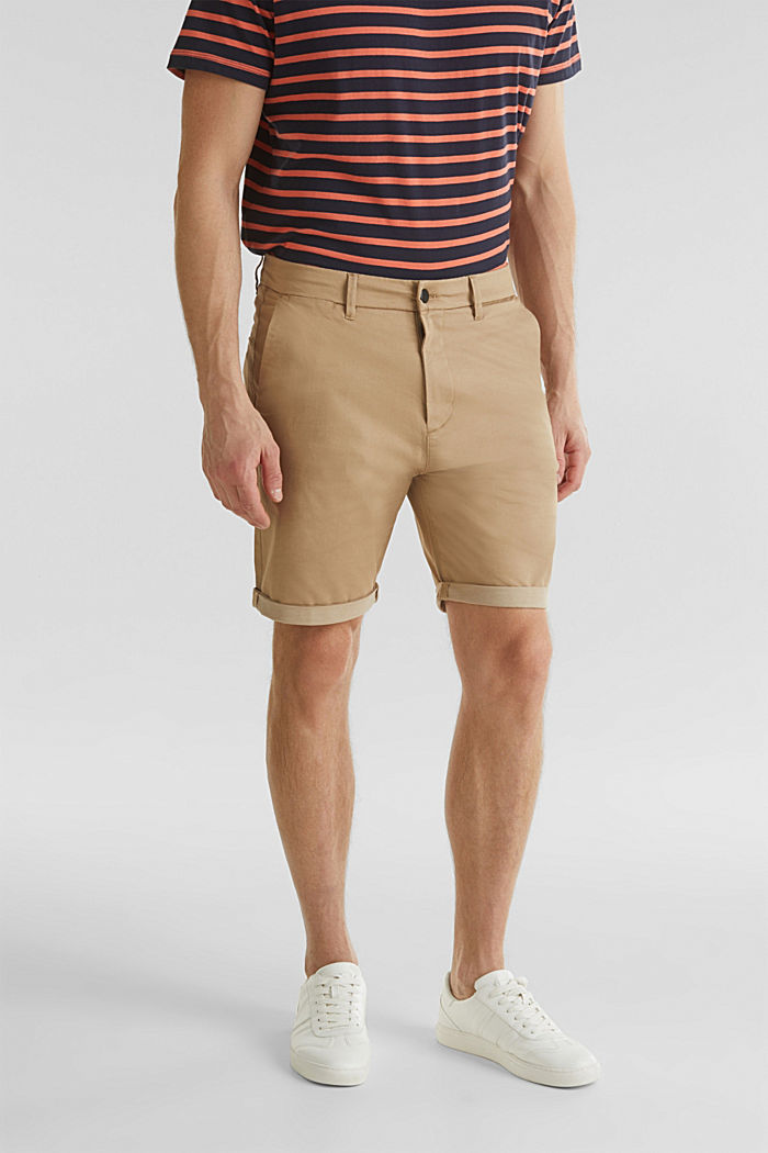 Shorts with COOLMAX®, organic cotton, BEIGE, detail image number 0