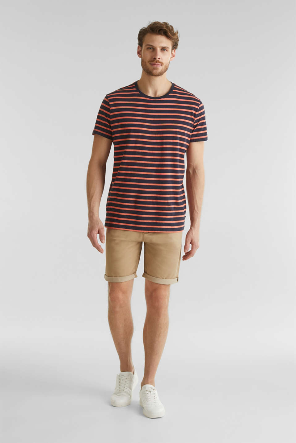 Shorts with COOLMAX®, organic cotton, BEIGE, detail image number 1