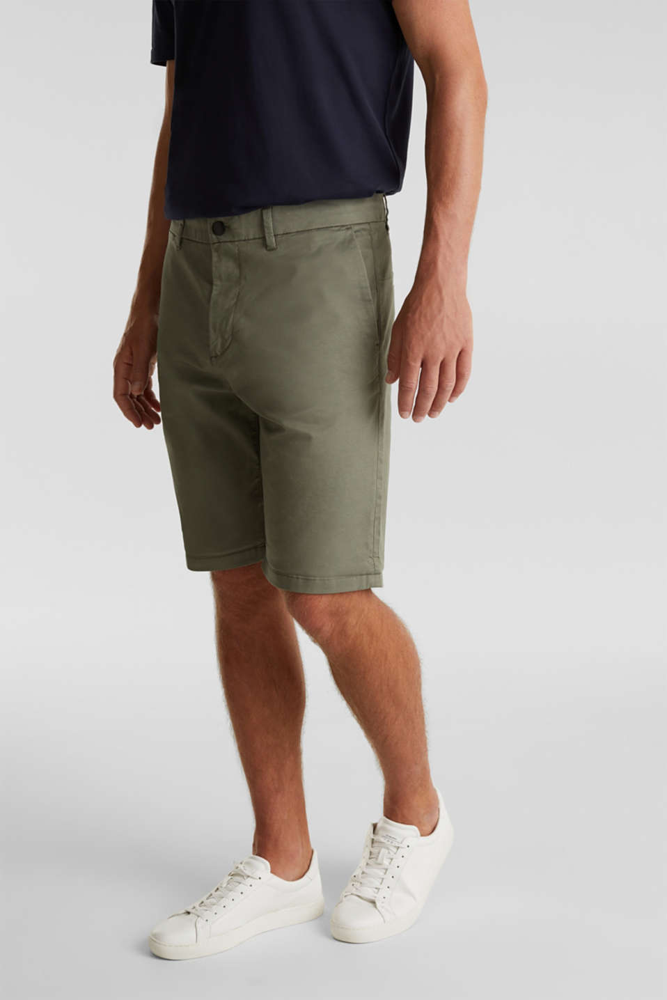 Shorts with COOLMAX®, organic cotton, LIGHT KHAKI, detail image number 0