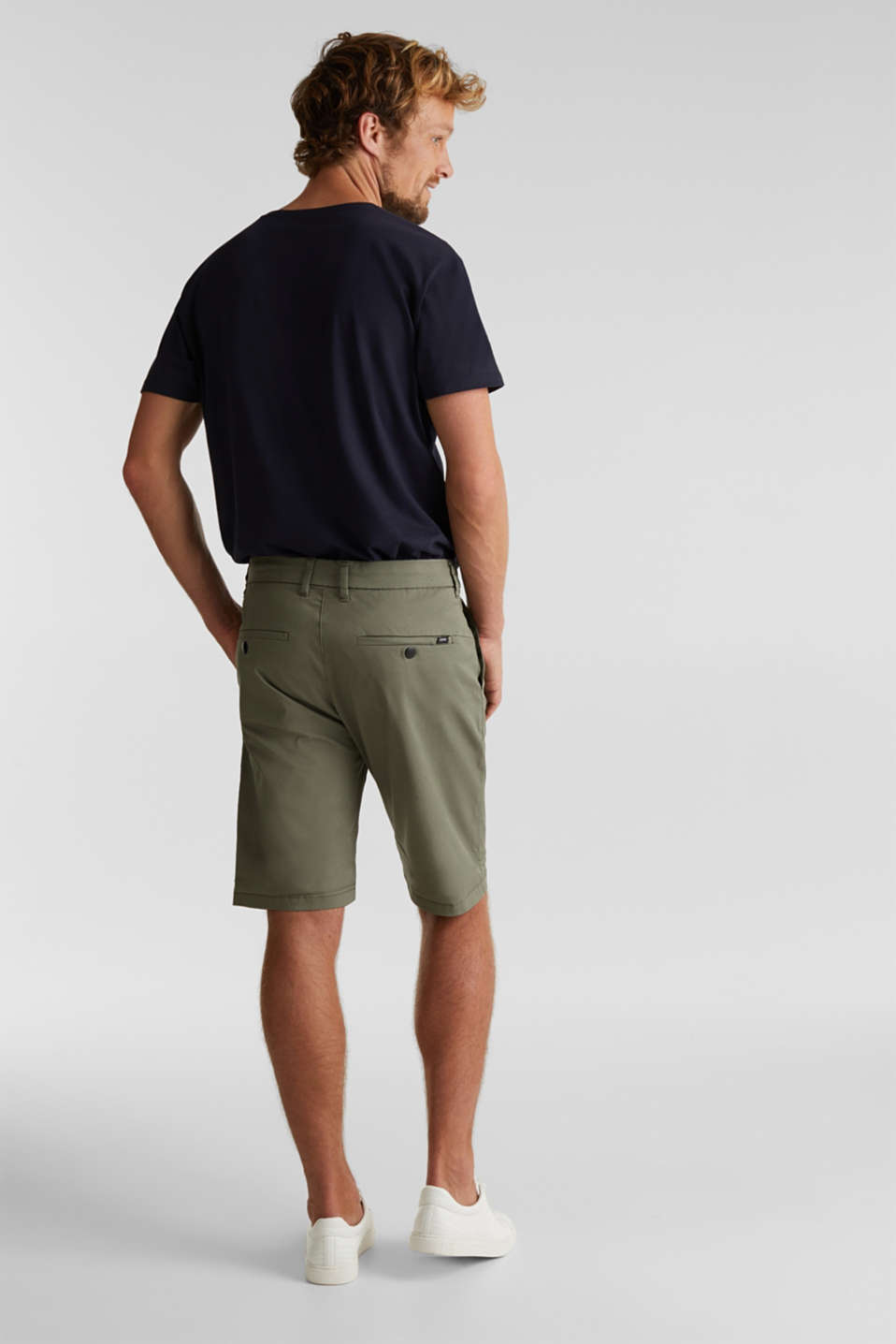 Shorts with COOLMAX®, organic cotton, LIGHT KHAKI, detail image number 3