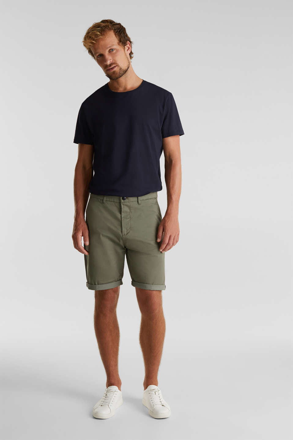 Shorts with COOLMAX®, organic cotton, LIGHT KHAKI, detail image number 1