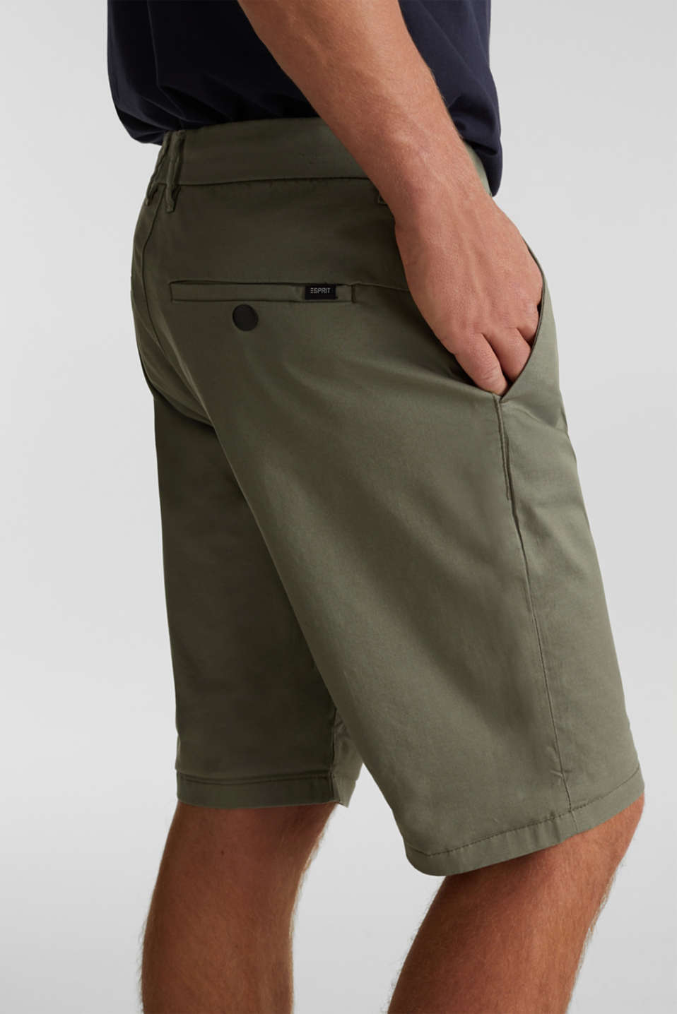 Shorts with COOLMAX®, organic cotton, LIGHT KHAKI, detail image number 2