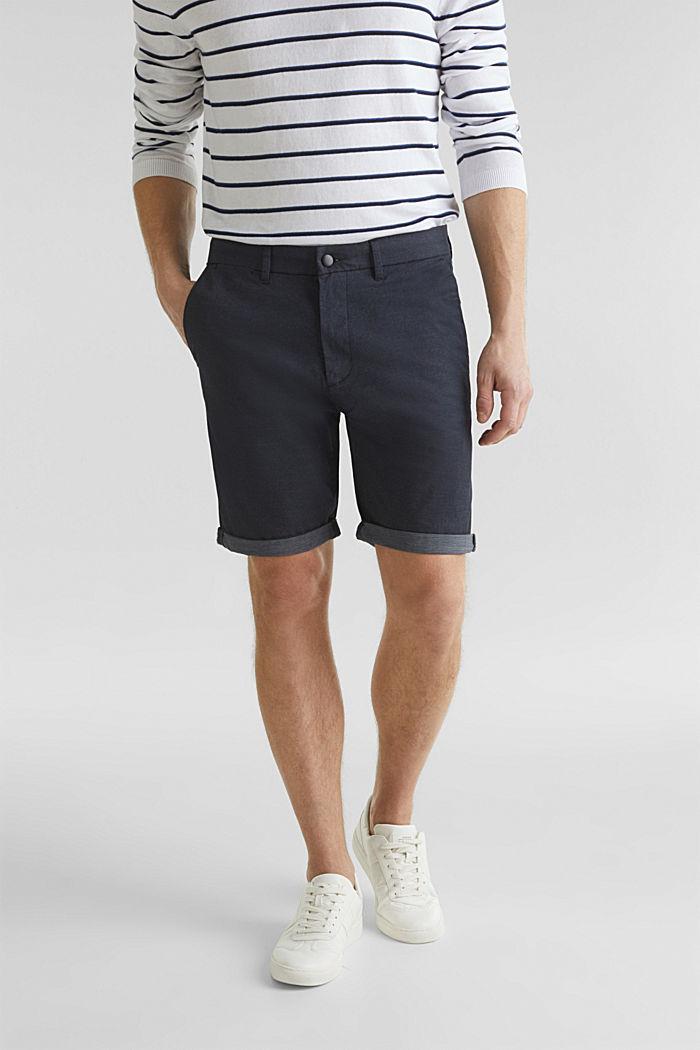 Shorts mit COOLMAX®, Organic Cotton, NAVY, detail image number 0