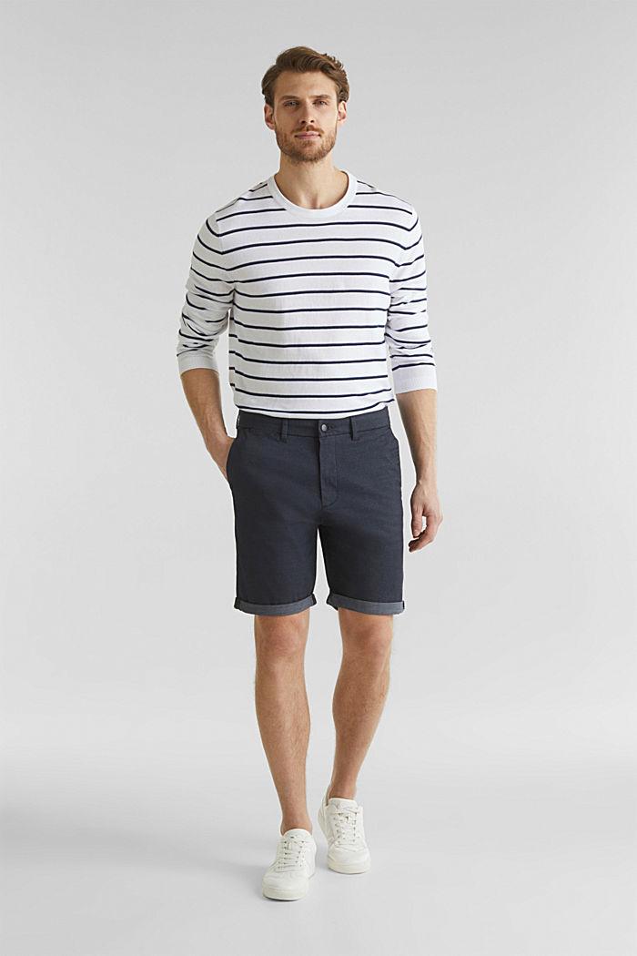Shorts mit COOLMAX®, Organic Cotton, NAVY, detail image number 1