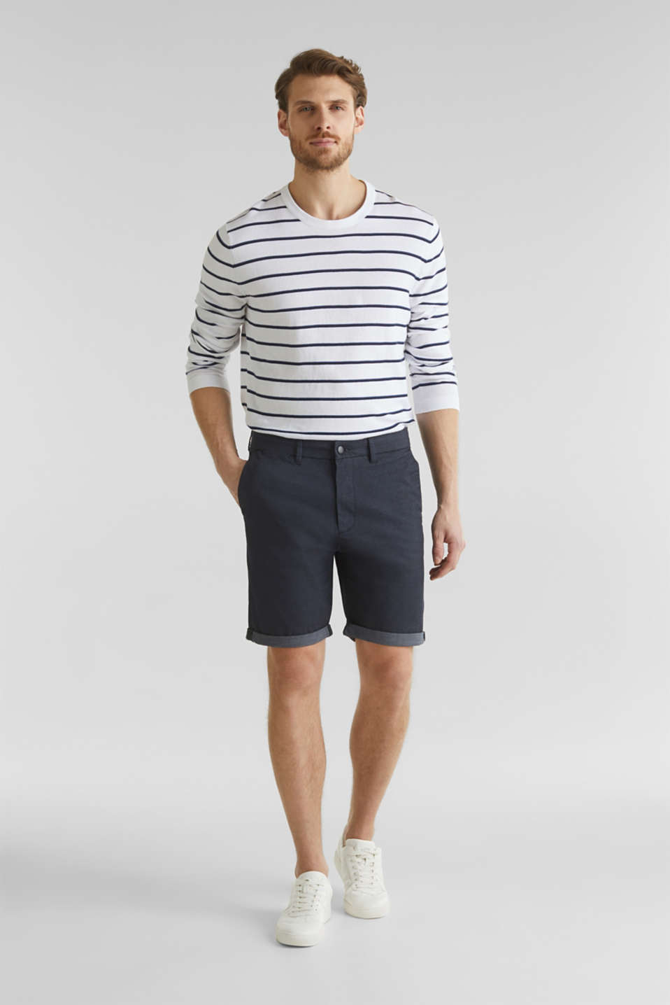 Shorts with COOLMAX®, organic cotton, NAVY, detail image number 1
