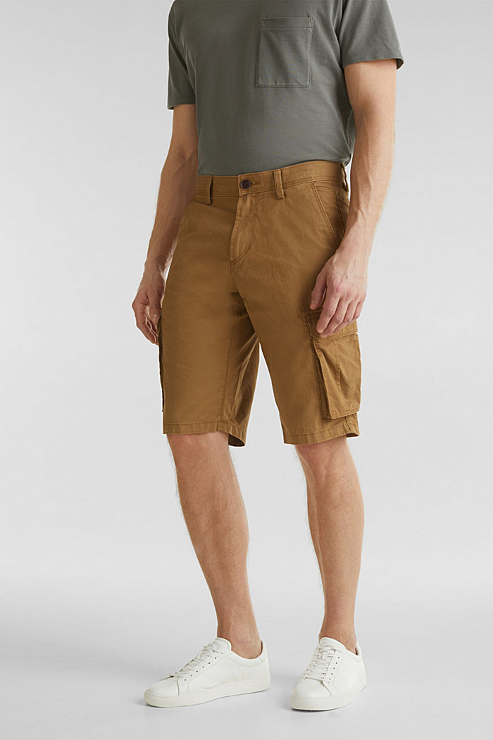 Cargo shorts made of 100% cotton, CAMEL, detail image number 0
