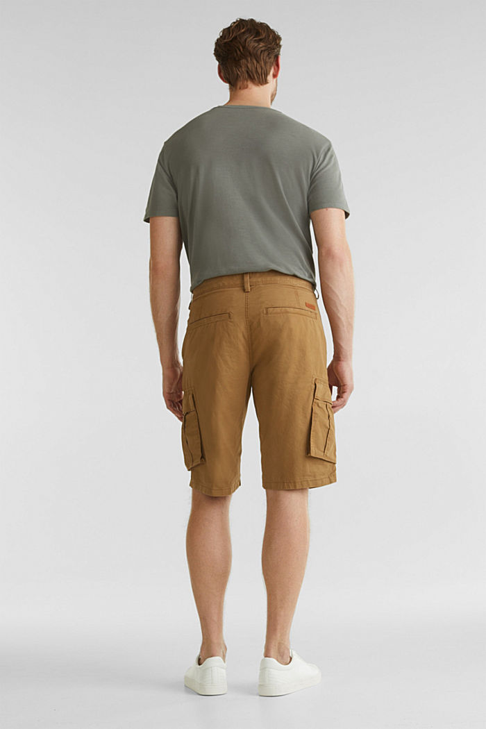 Cargo shorts made of 100% cotton, CAMEL, detail image number 3