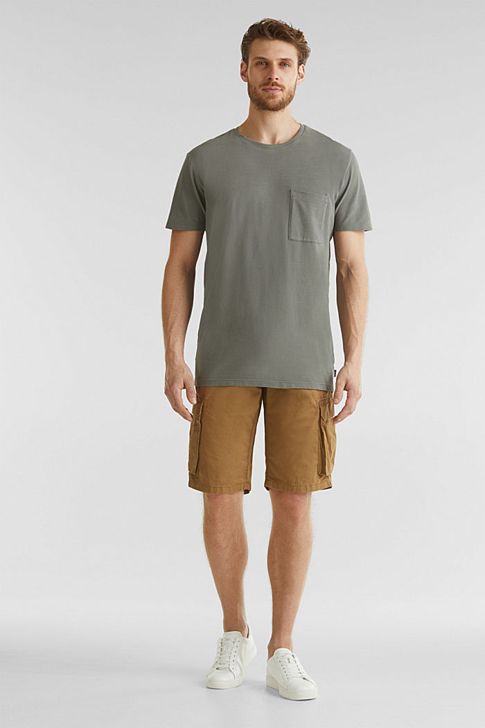 Cargo shorts made of 100% cotton, CAMEL, detail image number 1