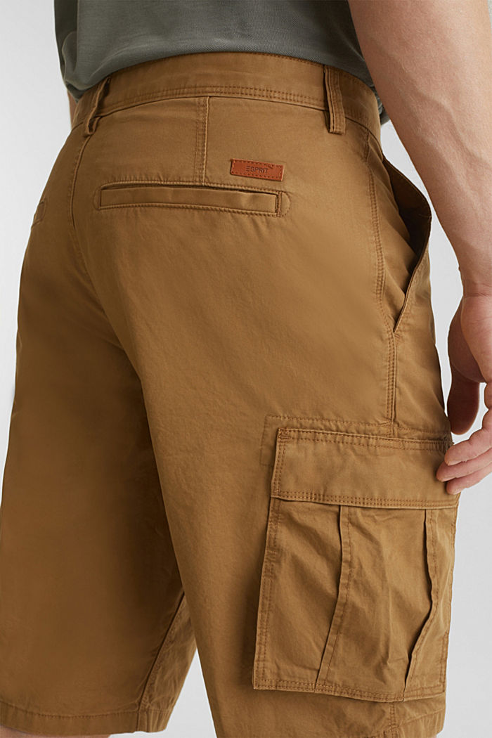 Cargo shorts made of 100% cotton, CAMEL, detail image number 2