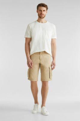 Cargo shorts made of 100% cotton, BEIGE, detail