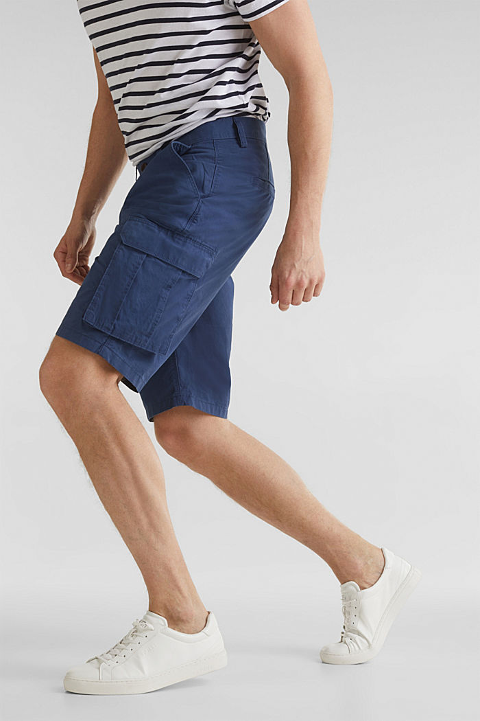 Cargo-Short aus 100% Baumwolle, DARK BLUE, detail image number 5