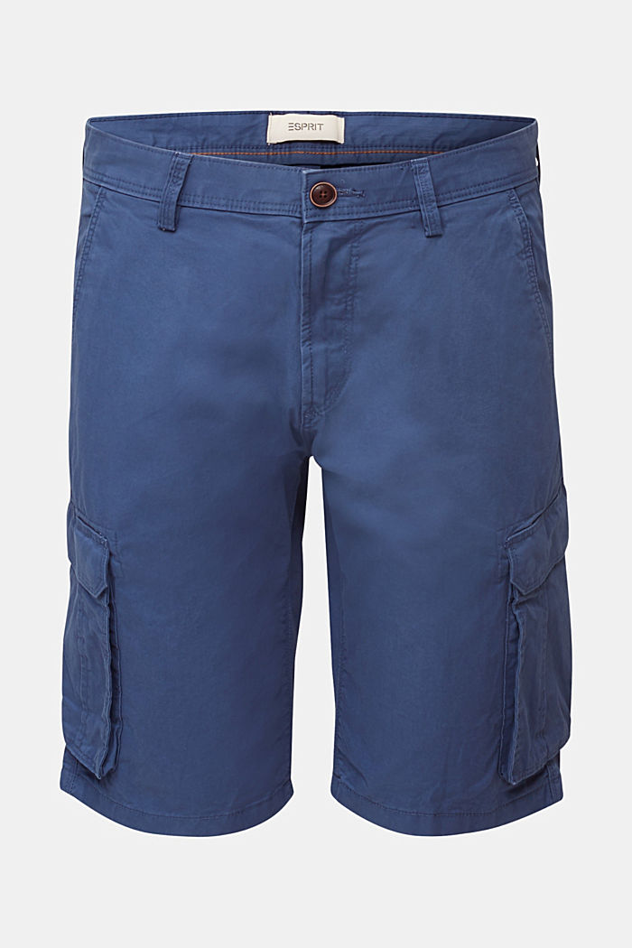 Cargo-Short aus 100% Baumwolle, DARK BLUE, overview