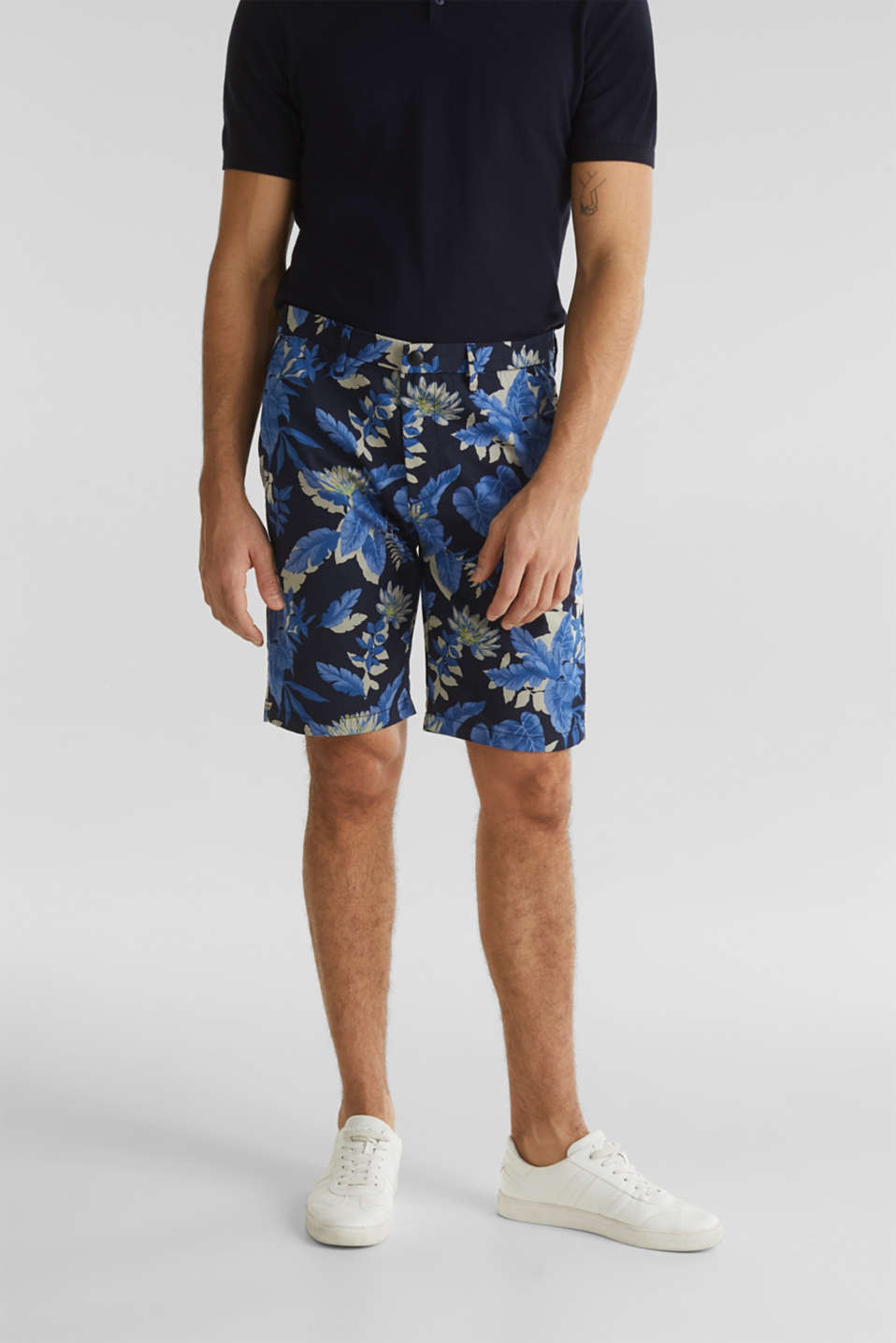Printed Bermudas with COOLMAX®, NAVY 4, detail image number 0