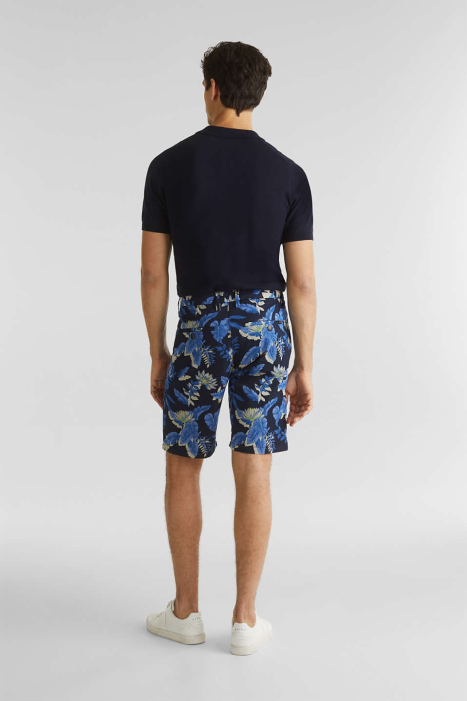 Printed Bermudas with COOLMAX®, NAVY 4, detail image number 3