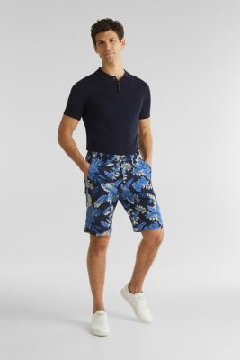 Printed Bermudas with COOLMAX®, NAVY 4, detail
