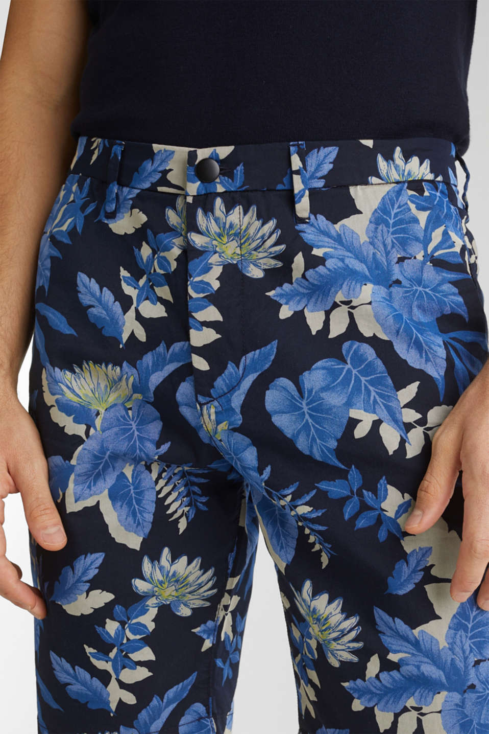 Printed Bermudas with COOLMAX®, NAVY 4, detail image number 2