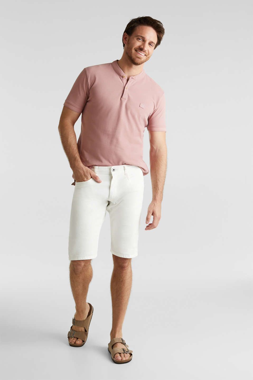 ARCHROMA shorts with organic cotton, OFF WHITE, detail image number 0