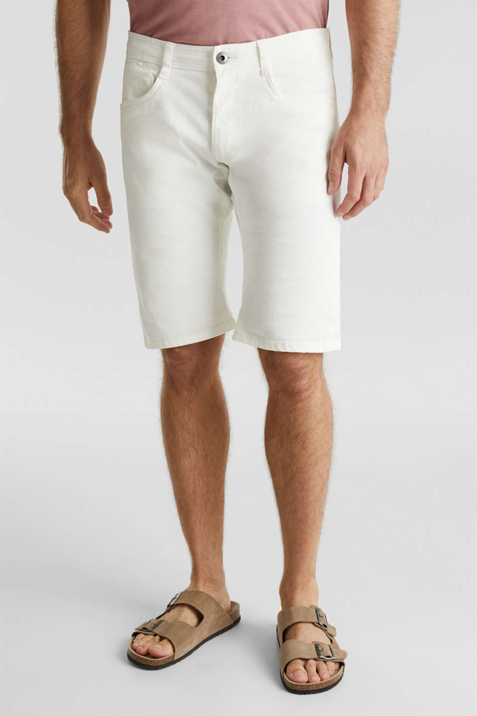 ARCHROMA shorts with organic cotton, OFF WHITE, detail image number 5