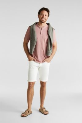 ARCHROMA shorts with organic cotton, OFF WHITE, detail