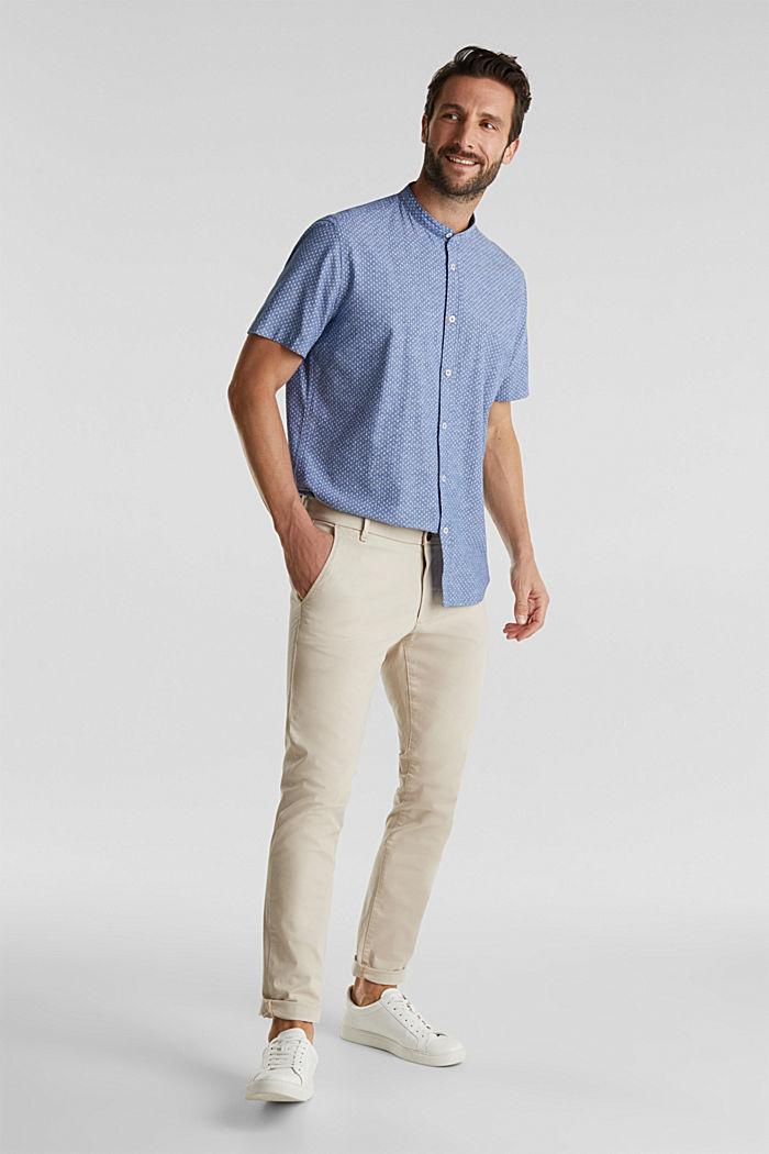À teneur en lin: la chemise à manches courtes à col montant, INK, detail image number 1