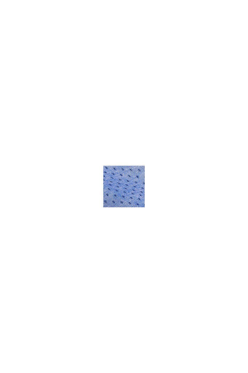 Mit Leinen: Kurzarm-Hemd mit Stehkragen, BLUE, swatch