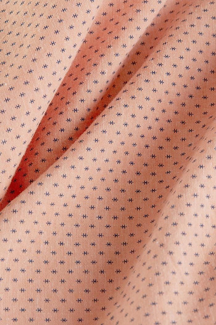 Met linnen: overhemd met korte mouwen en opstaande kraag, ORANGE, detail image number 4