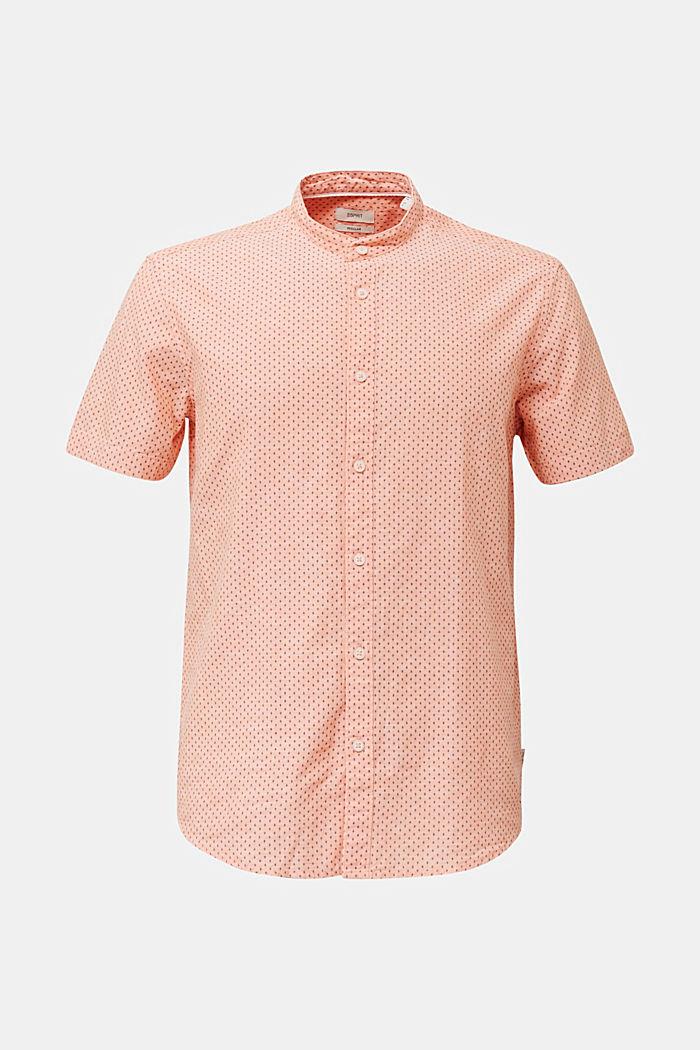 Mit Leinen: Kurzarm-Hemd mit Stehkragen, ORANGE, detail image number 5