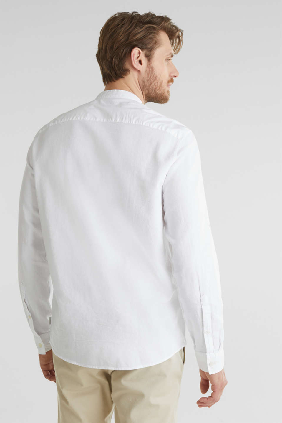 Textured shirt made of 100% organic, WHITE 5, detail image number 3
