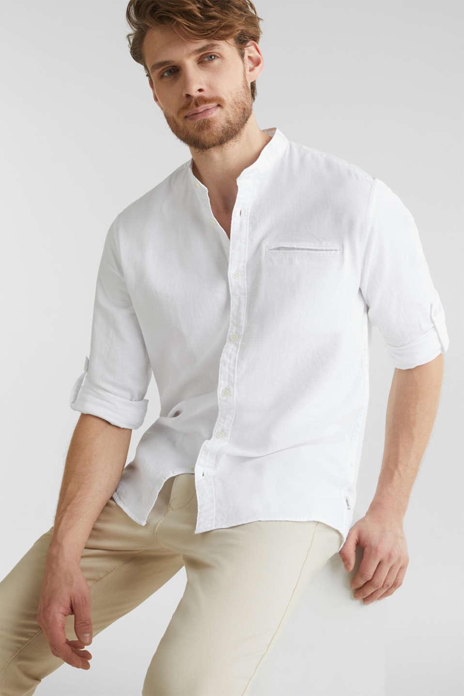 Textured shirt made of 100% organic, WHITE 5, detail image number 5