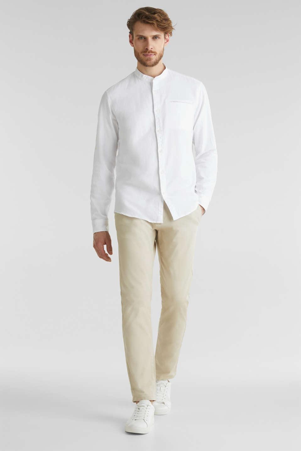 Textured shirt made of 100% organic, WHITE 5, detail image number 1