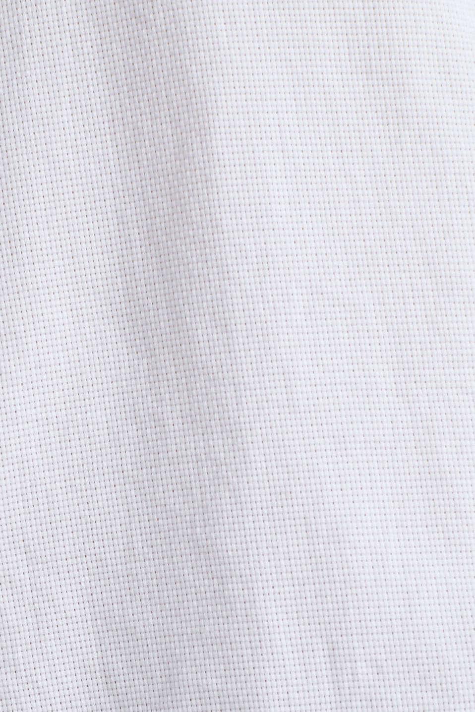 Textured shirt made of 100% organic, WHITE 5, detail image number 4