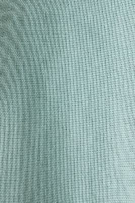 Textured shirt made of 100% organic, DUSTY GREEN 5, detail