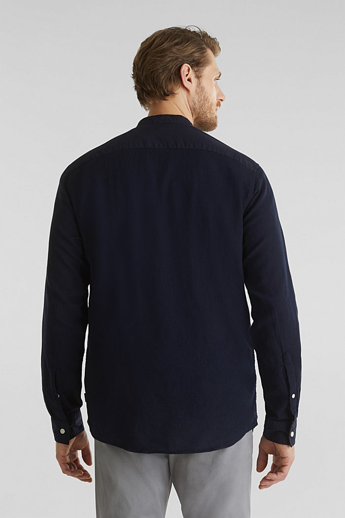 Textured shirt made of 100% organic, NAVY, detail image number 3