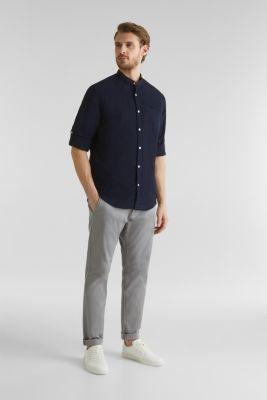 Textured shirt made of 100% organic, NAVY 5, detail