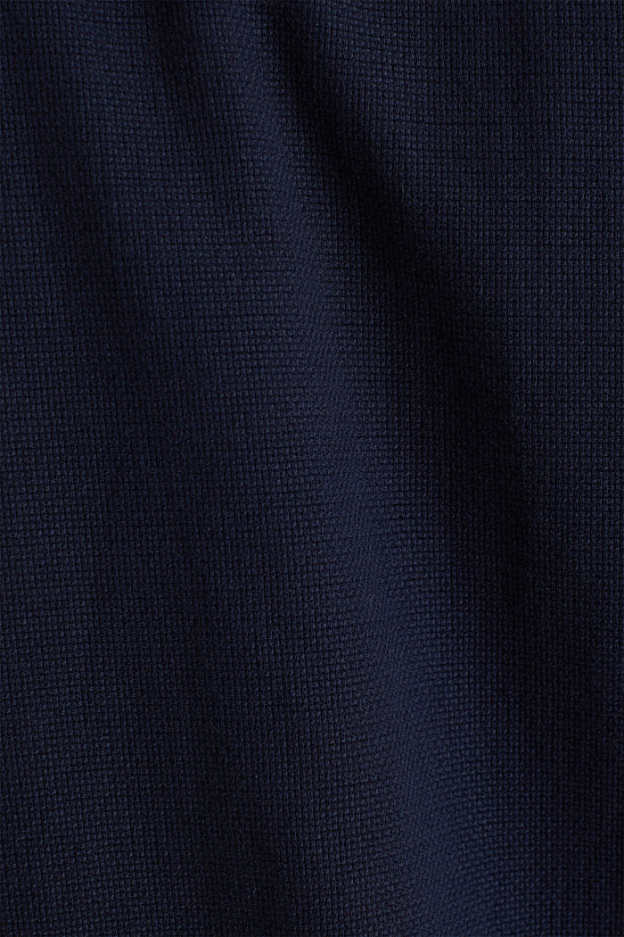 Textured shirt made of 100% organic, NAVY, detail image number 4
