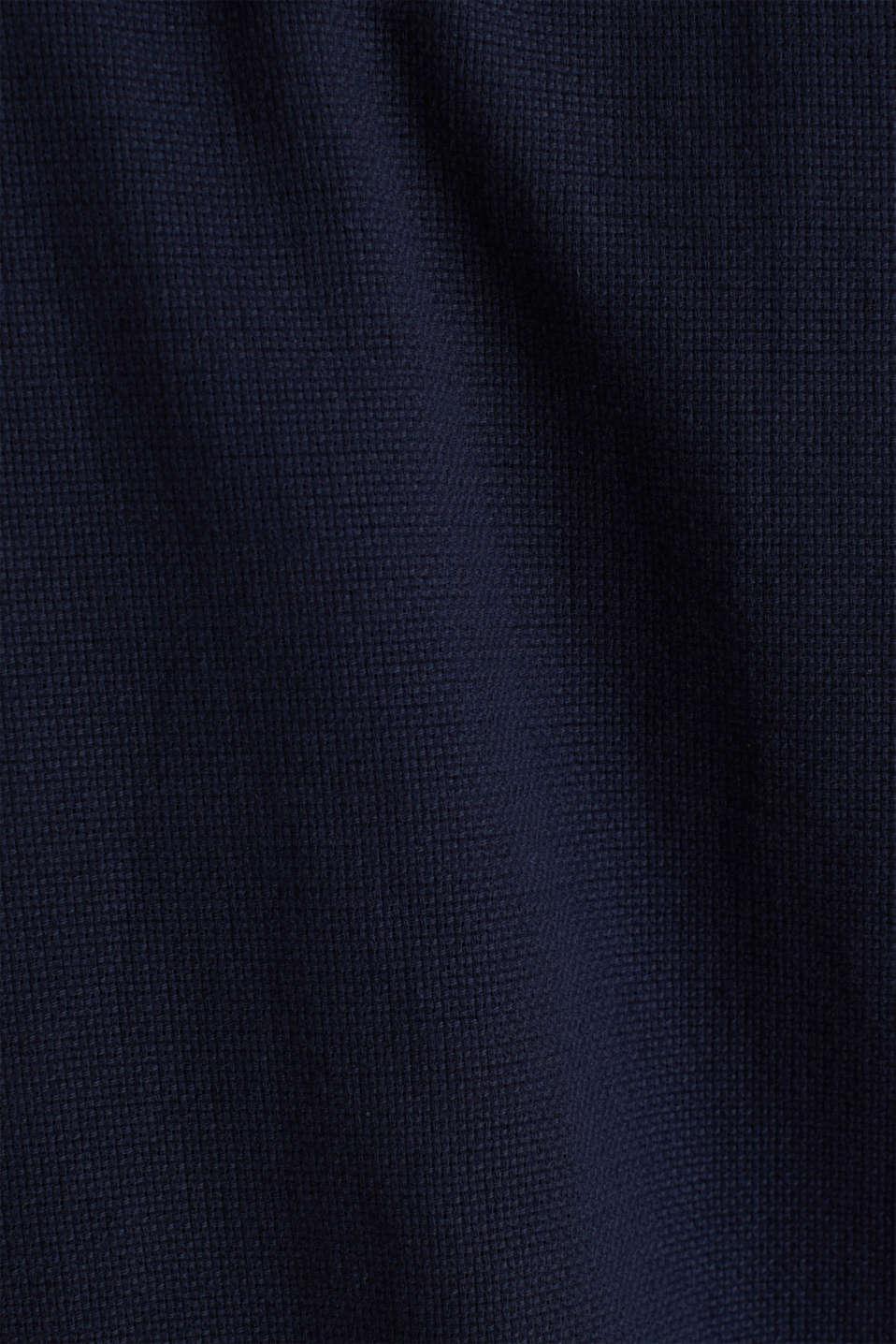 Textured shirt made of 100% organic, NAVY 5, detail image number 4