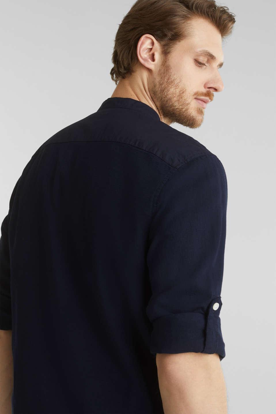 Textured shirt made of 100% organic, NAVY 5, detail image number 5