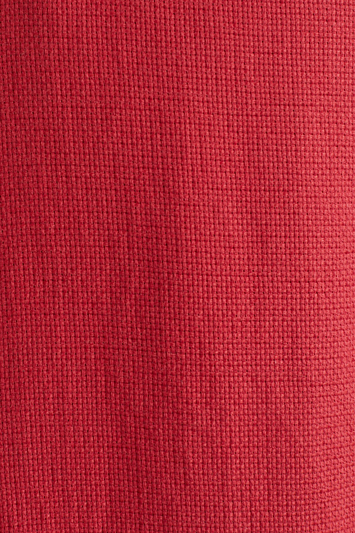 Struktur-Hemd aus 100% Organic Cotton, ORANGE RED, detail image number 4