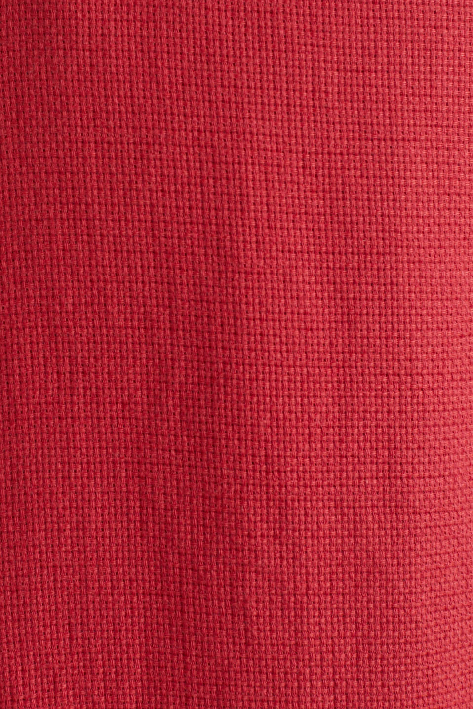 Textured shirt made of 100% organic, ORANGE RED 5, detail image number 4