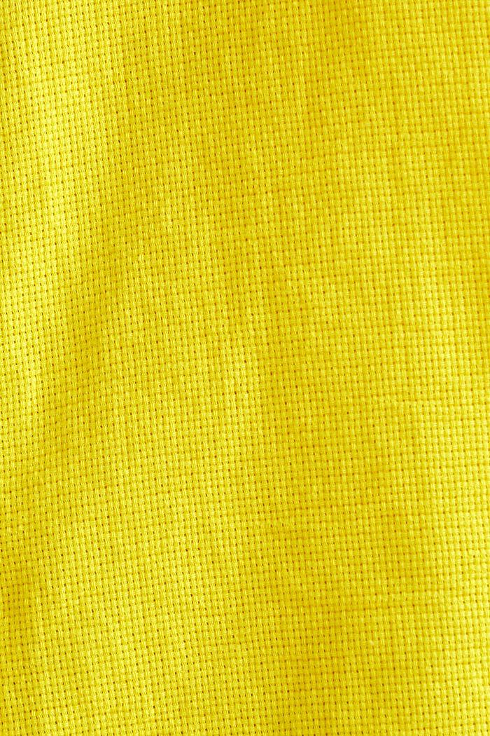 Gestructureerd overhemd van 100% biologisch katoen, YELLOW, detail image number 4