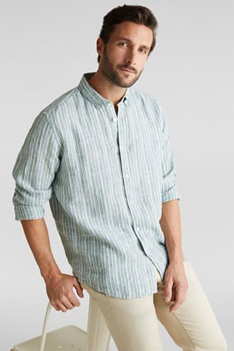 100% linen: Striped shirt